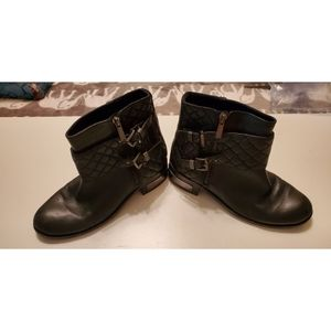 Vince Camuto WINTA Black Leather Riding Boots
